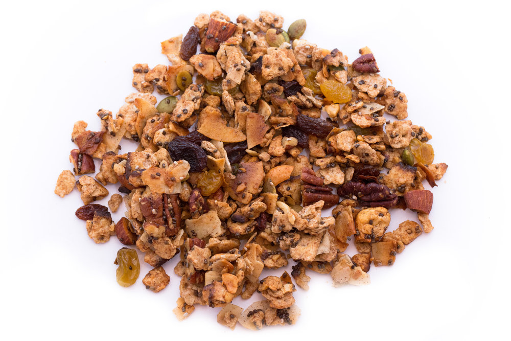 We made this special granola for Passover, but it was so popular that our customers asked us to keep selling it year-round. Made with whole wheat matzah instead of oats for the krunchiest granola that we've ever tasted. Trust us, you will love it!