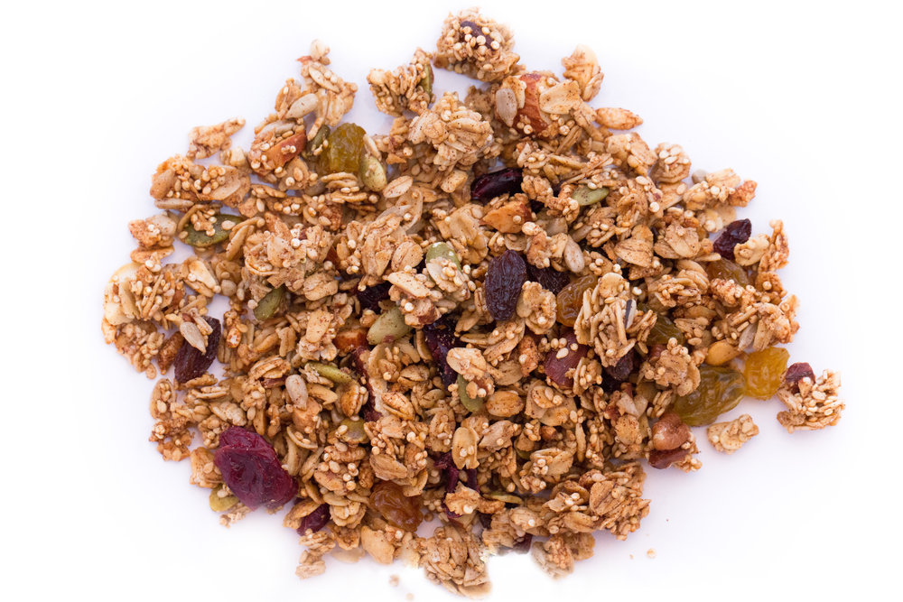 Prefer your granola without coconut? This one is for you! We've taken the coconut out of our Original recipe and added quinoa and puffed brown rice. This granola is extra krunchy and delicious. Try sprinkling it over ice cream...you'll thank us later.