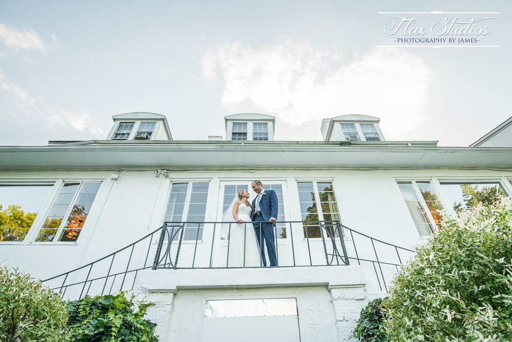Wide Angle Wedding Photo
