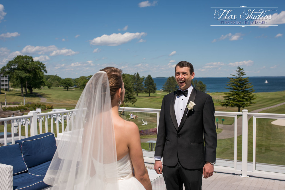 First Look Maine Wedding Photographer Flax Studios