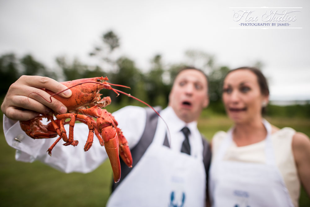 Fun Lobster Wedding Photo