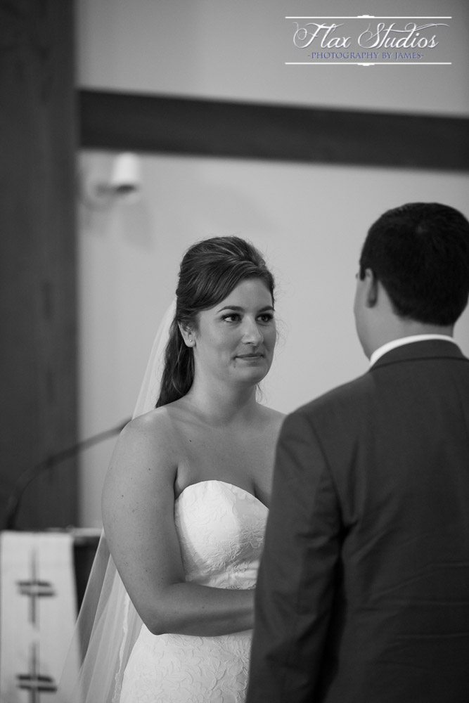 Bride exchanging vows