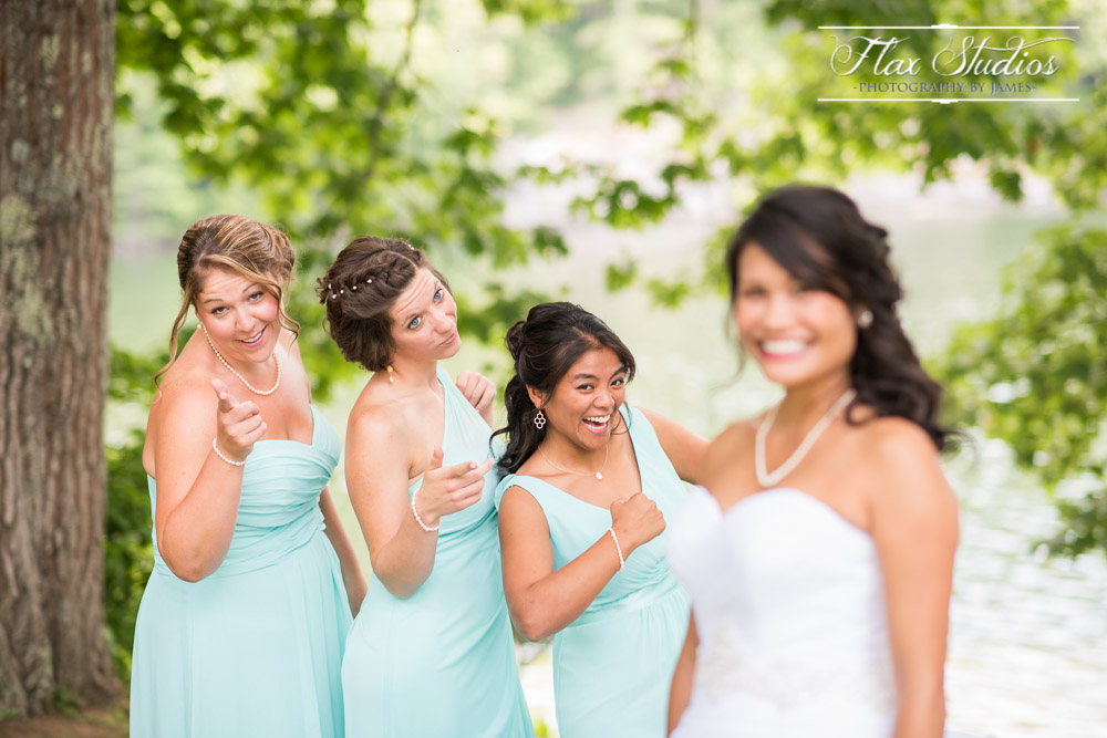Fun Photo with Bridesmaids