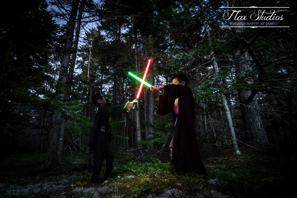 Lightsaber Battle With young Jedis Flax Studios