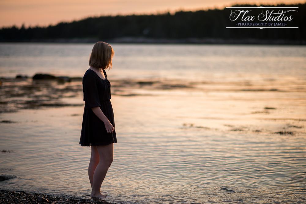Standing in the ocean