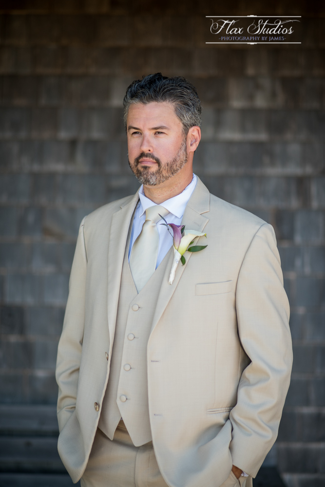groom portrait beige suit