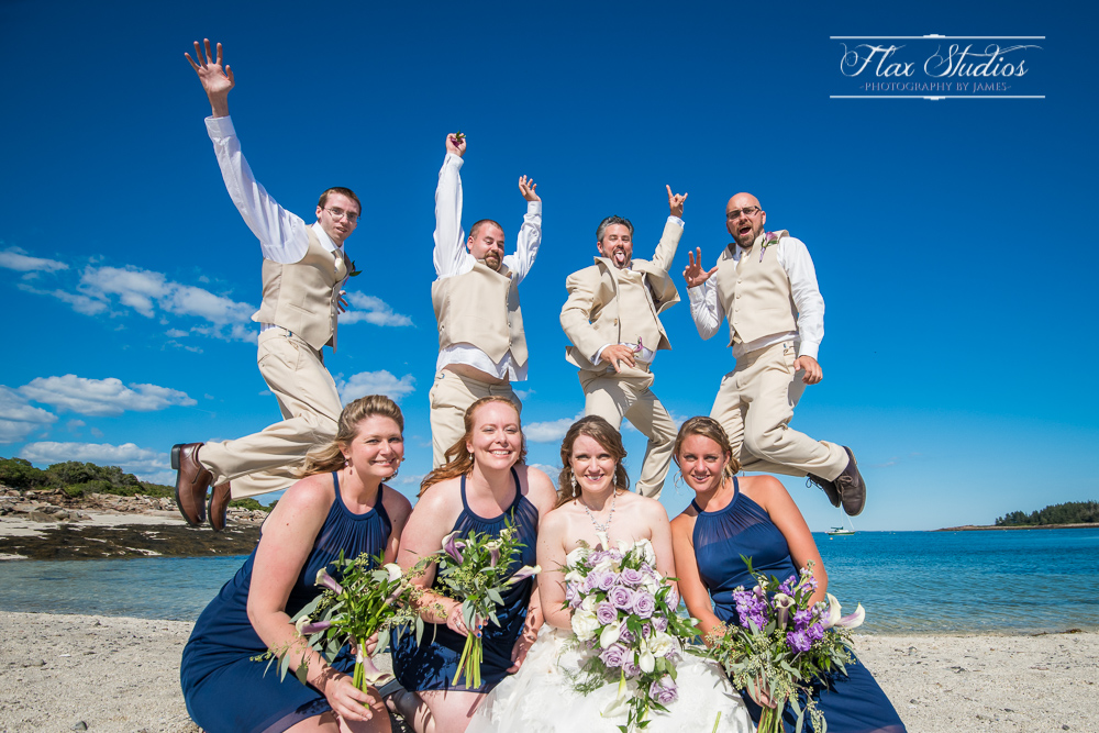 Fun Bridal Party Jumping Shot