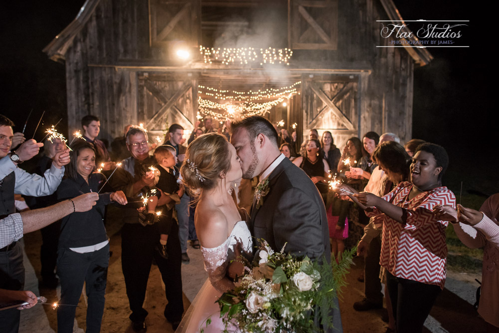 Sparkler Exit Maine Wedding Photographers Flax Studios