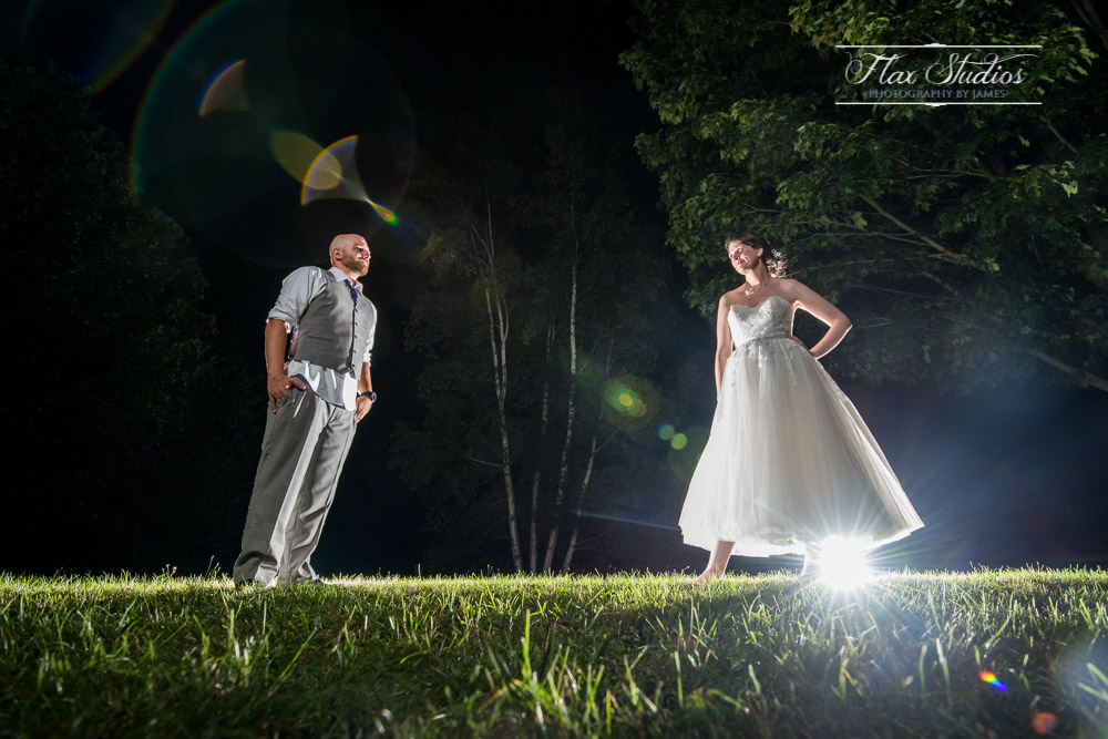 After dark wedding portraits