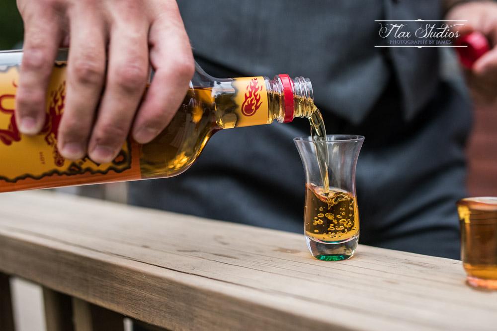 Fireball liquor shots