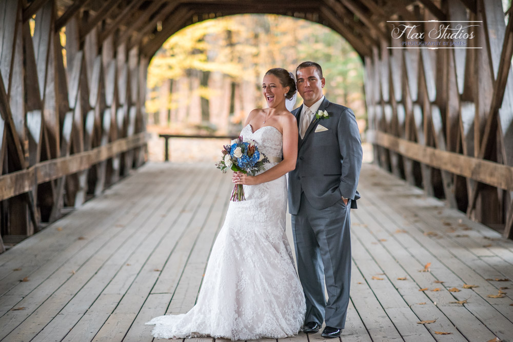 Sunday River Bridge Wedding Photos Flax Studios
