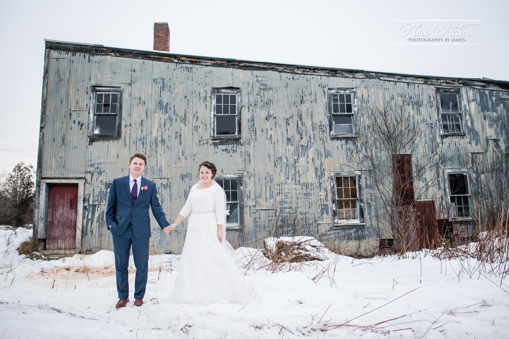 Rustic run down building wedding photo ideas