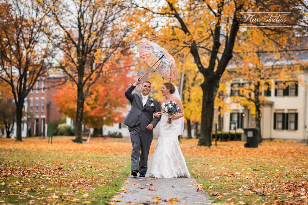 Fall foliage photography at weddings
