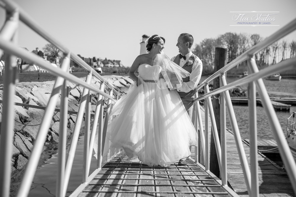 Wedding on the dock at Nonantum Resort Flax Studios