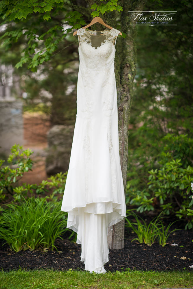 Wedding Dress hanging in tree SPI