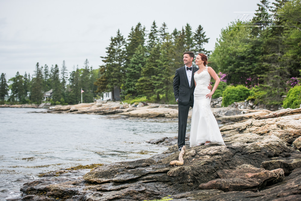 Ocean view at Spruce Point Inn Wedding