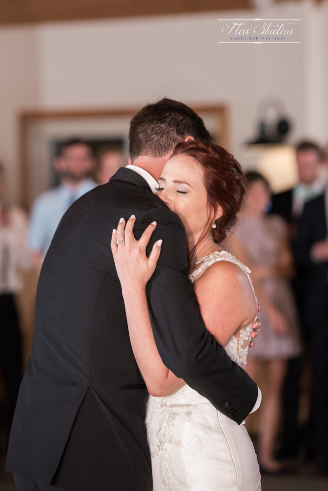 embrace during first wedding dance