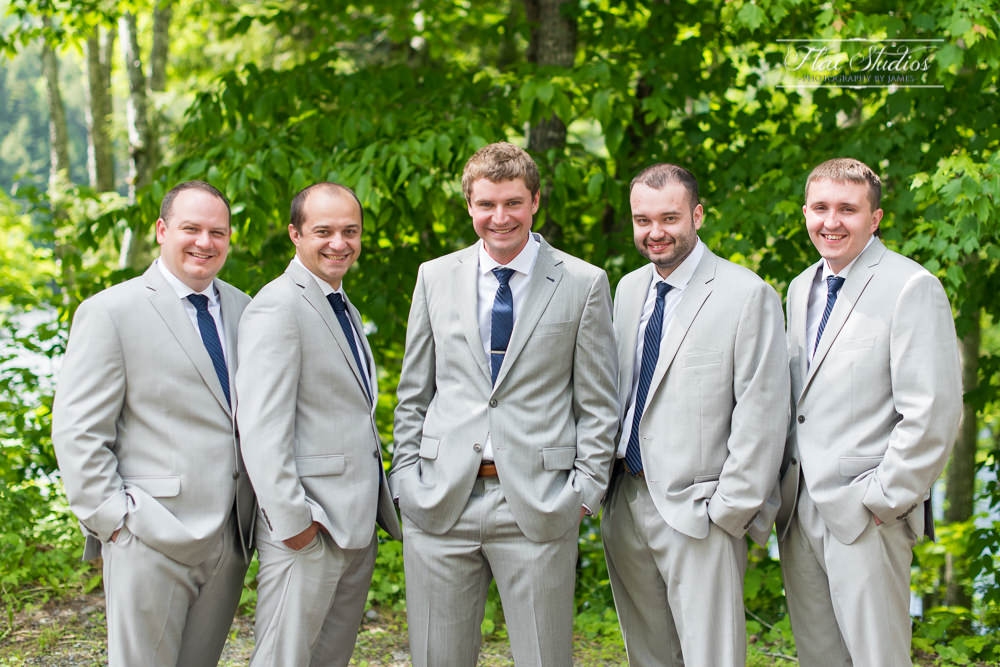 Groom with groomsmen from Belarus