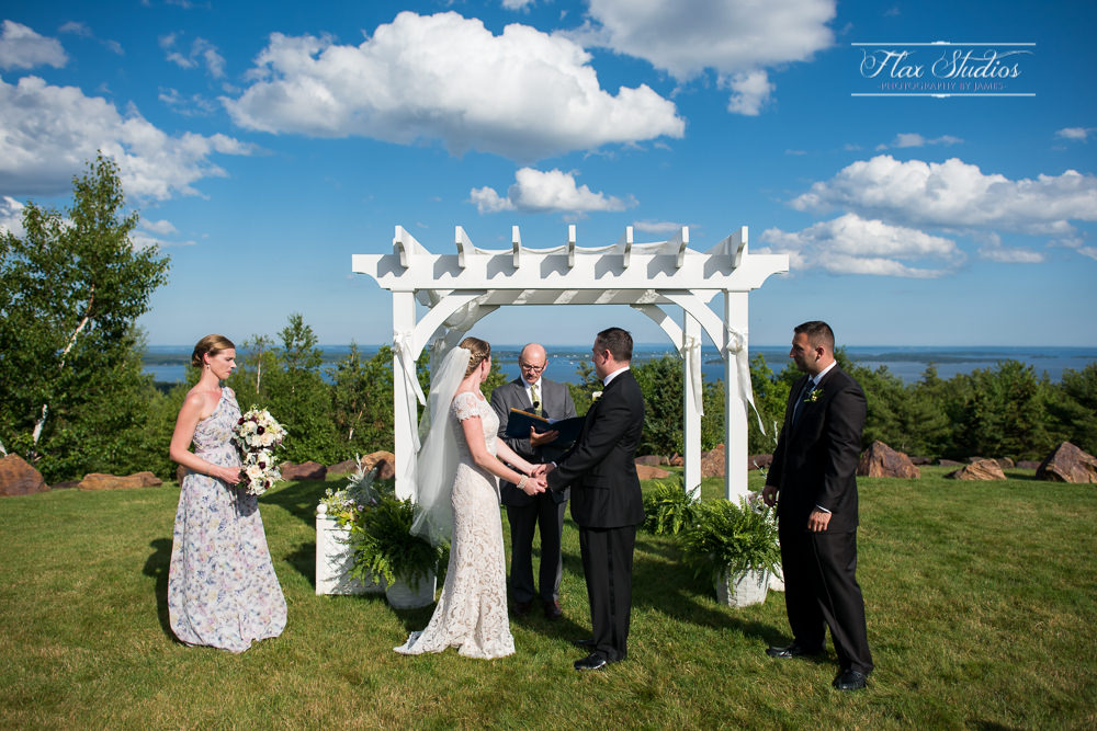 Outdoor Point Lookout Wedding