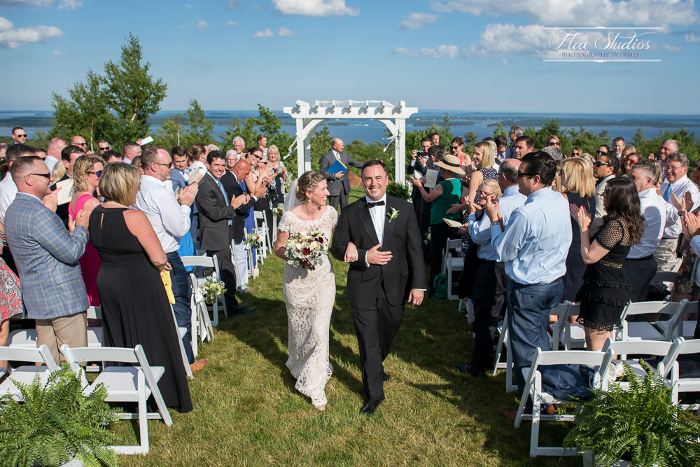 Walking down the aisle at Point Lookout