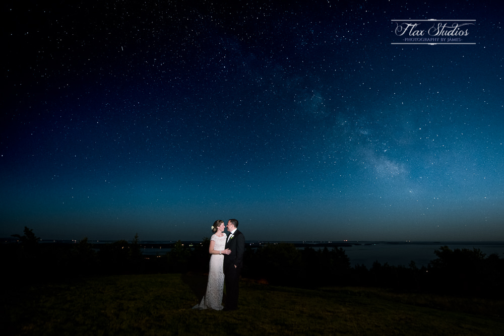 Astrophotography wedding photos flax studios