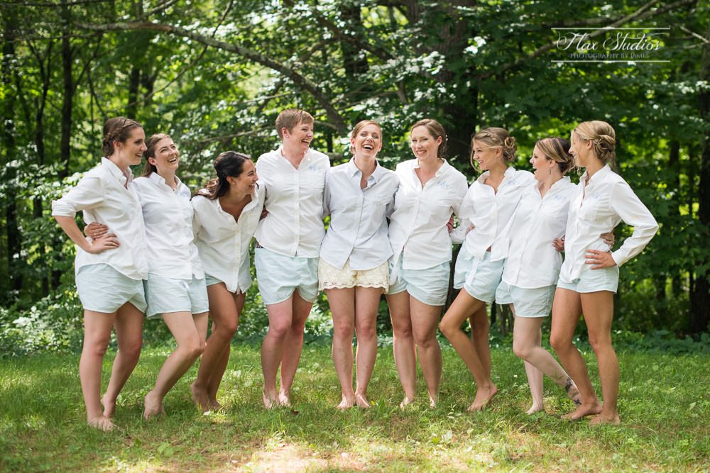 Monogrammed Bridesmaids Shirts