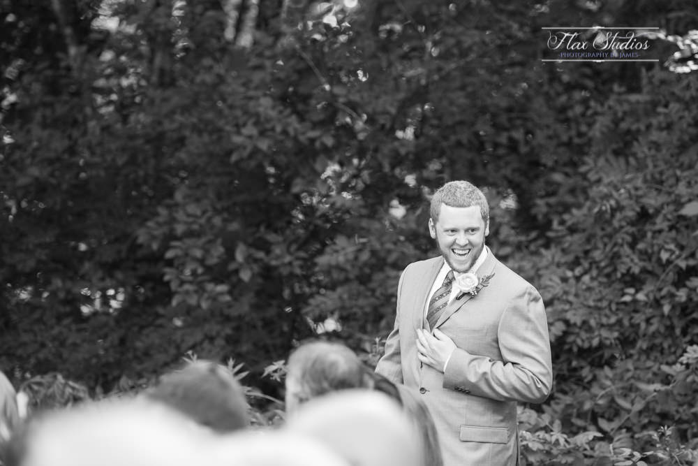 groom walking down the aisle