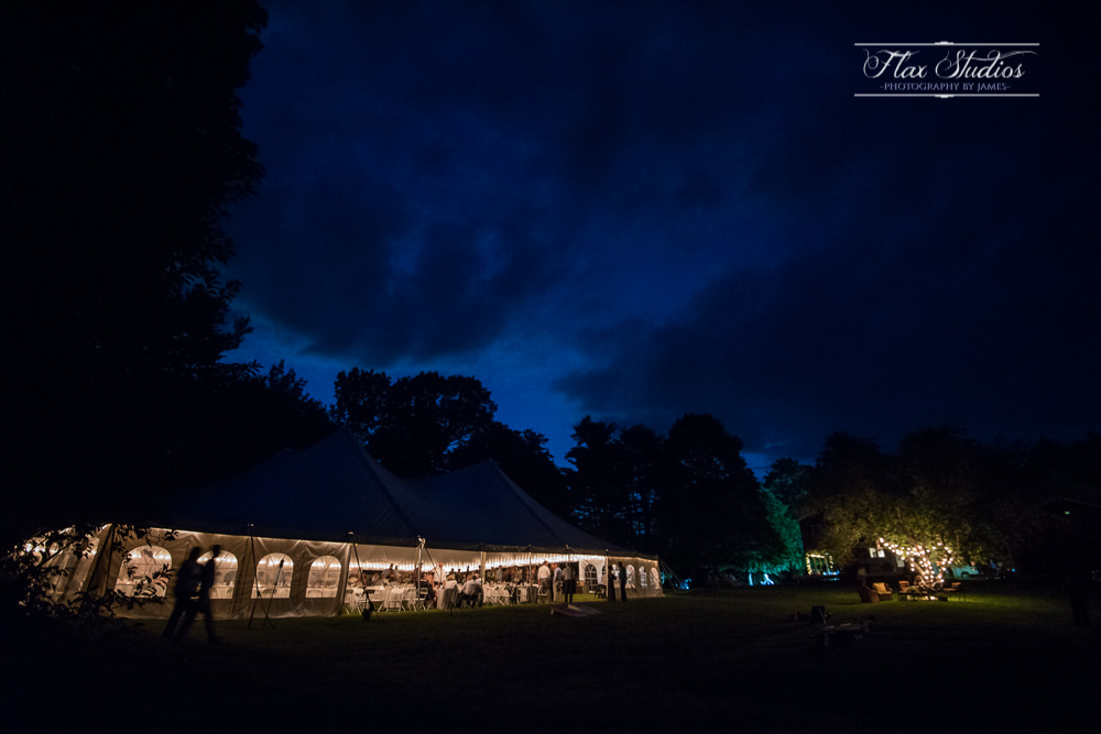 Outdoor tented Maine wedding