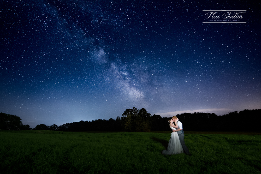 Wedding astrophotography photos flax studios