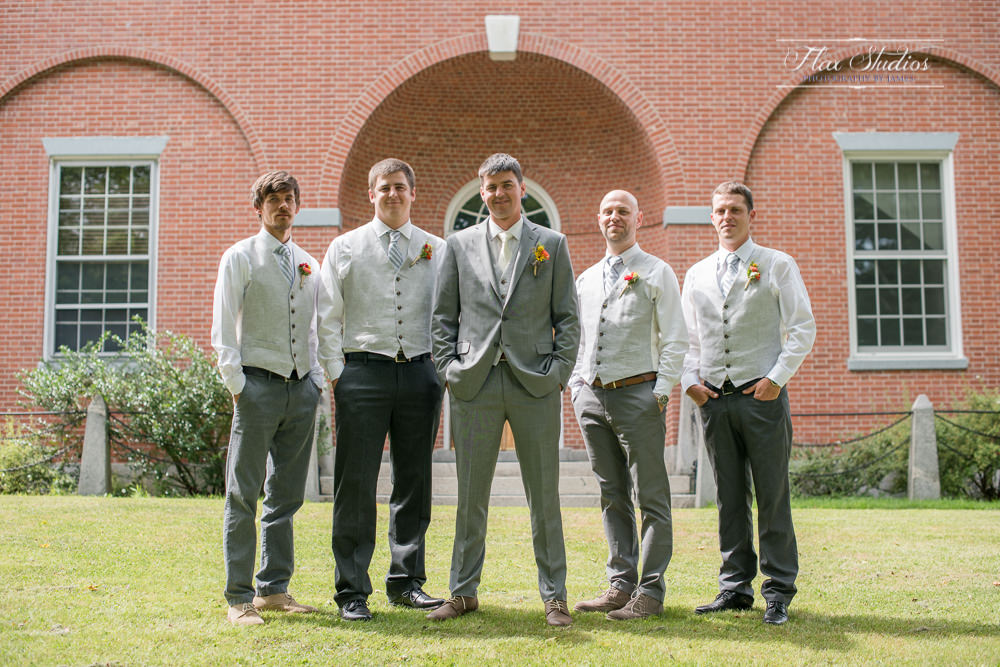 Groomsmen photos in downtown wiscasset