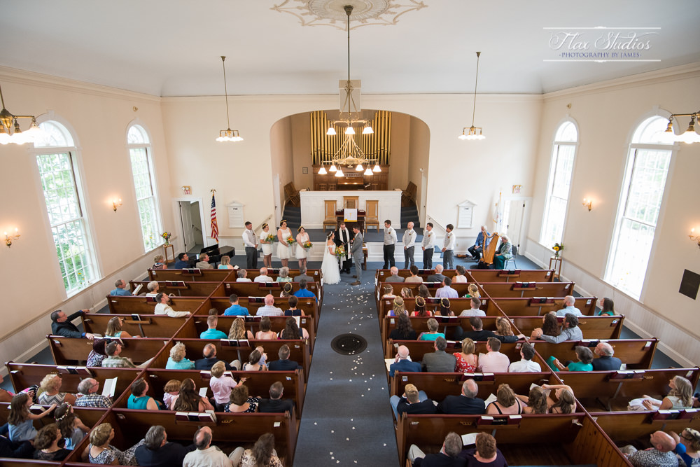 Inside the first congregational church of Wiscasset