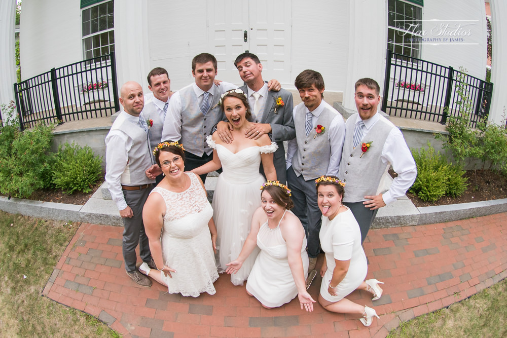 Goofy bridal party pictures