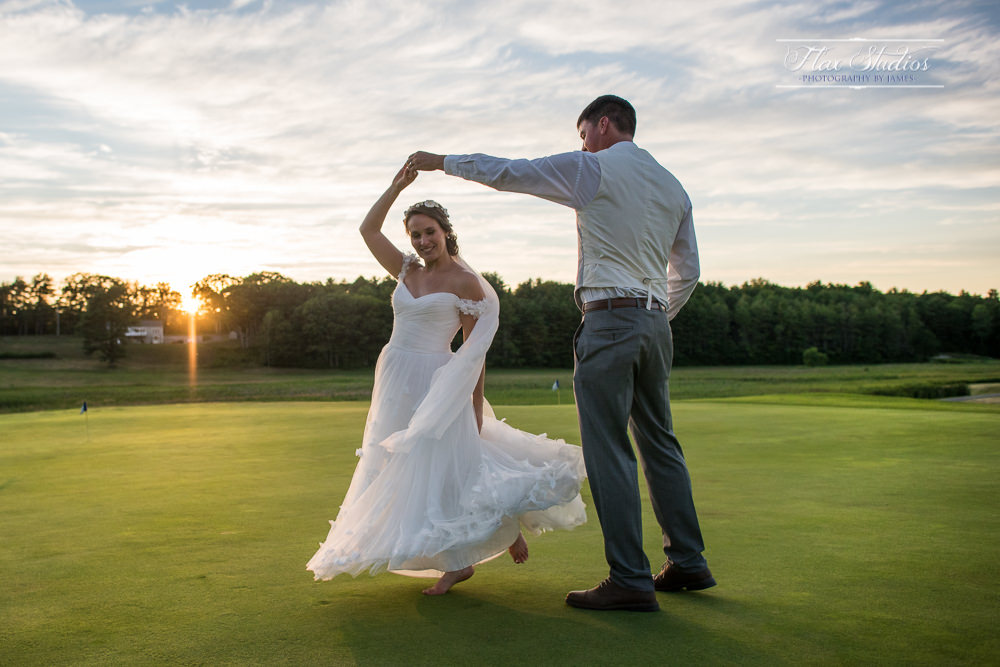 Dancing under the sunset romantic wedding photos flax studios
