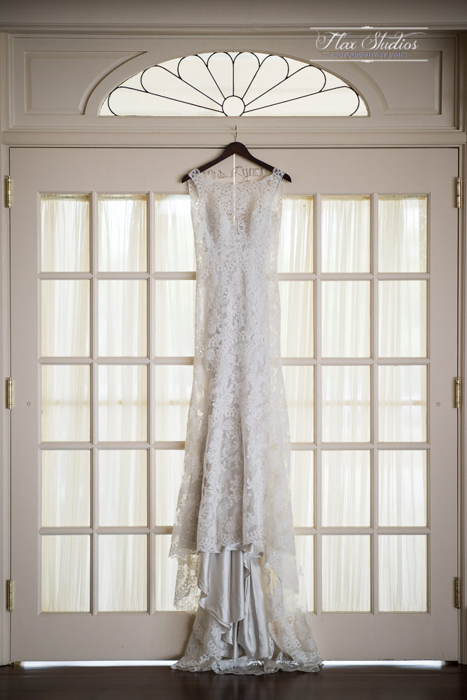 Wedding dress hanging Point Lookout