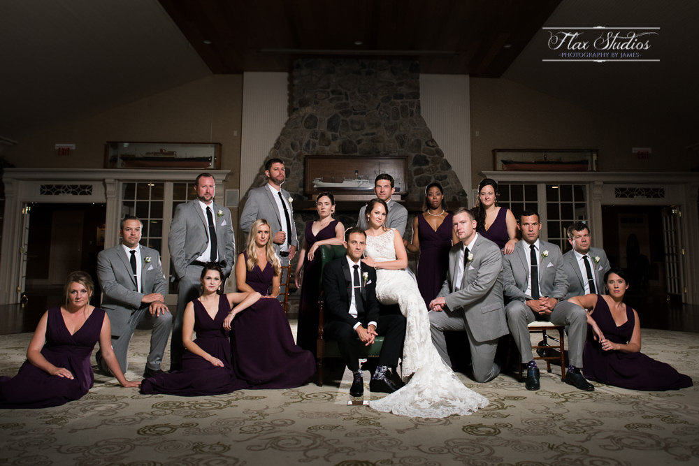 Dramatic Bridal Party Portraits Flax Studios Maine Wedding Photographers