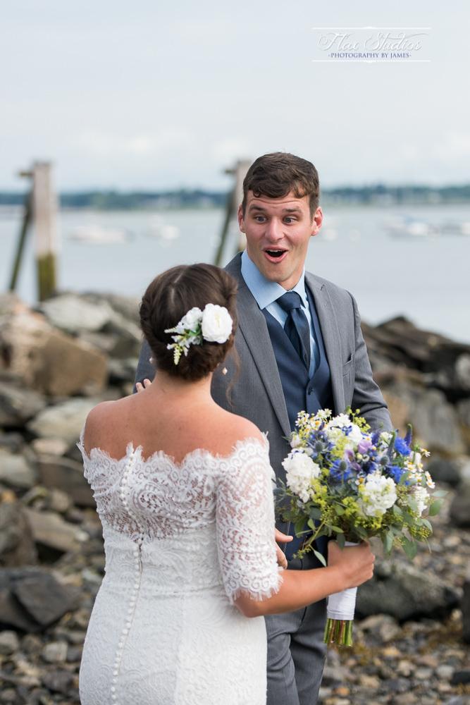 First look groom reactions
