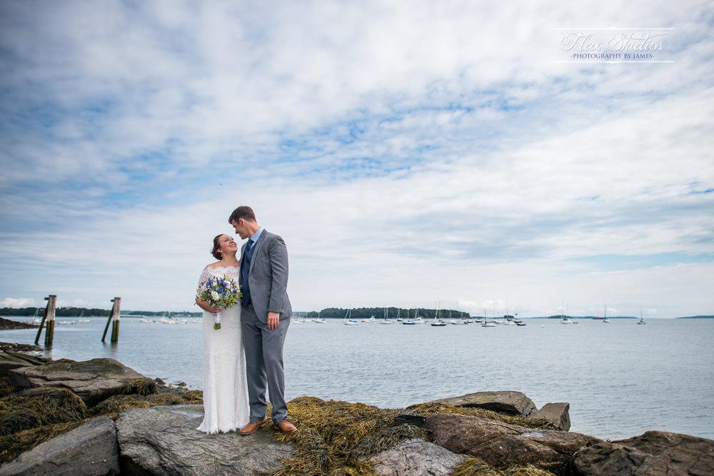 Eastern Prom Portland Maine Wedding Photos