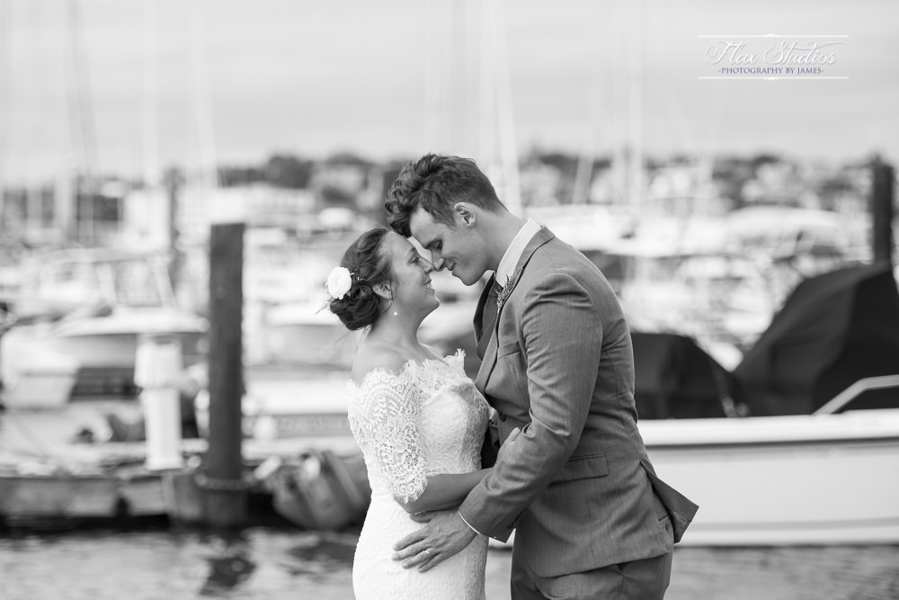 romantic dock wedding photos flax studios maine wedding photographers