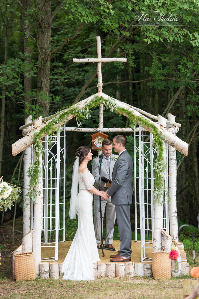 handmade wedding arbors