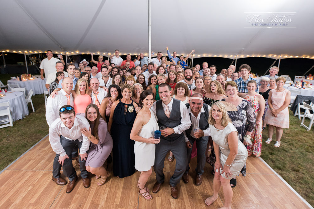how to take a large group wedding photo on the dance floor