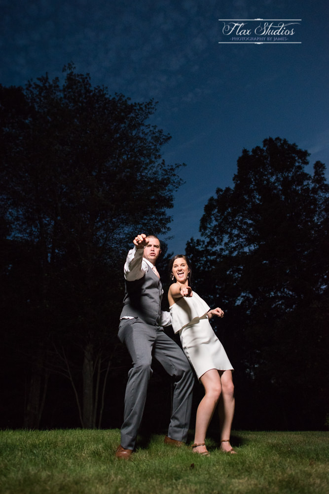 fun night time wedding photos