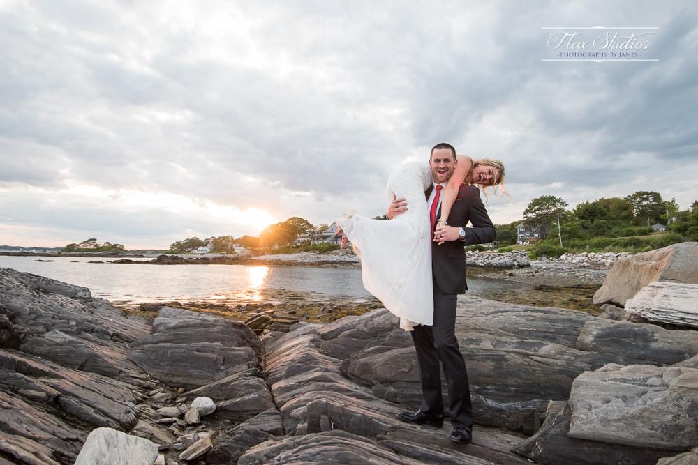 Peaks Island candid wedding photos