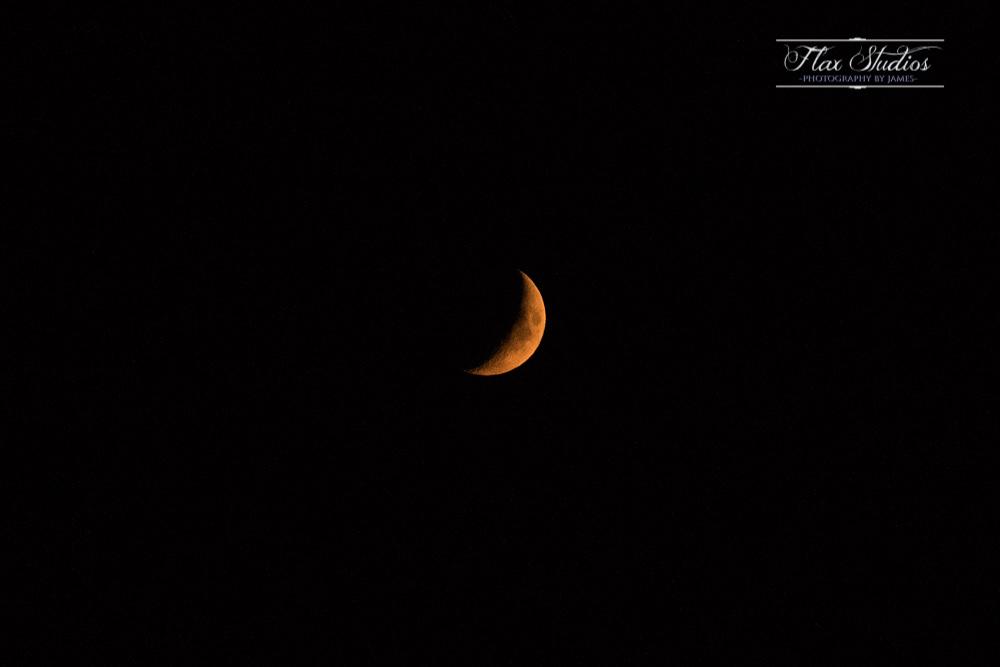 crescent moon over portland