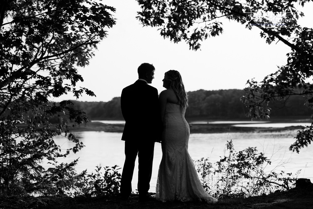Black and White Wedding Silhouette Flax Studios Maine