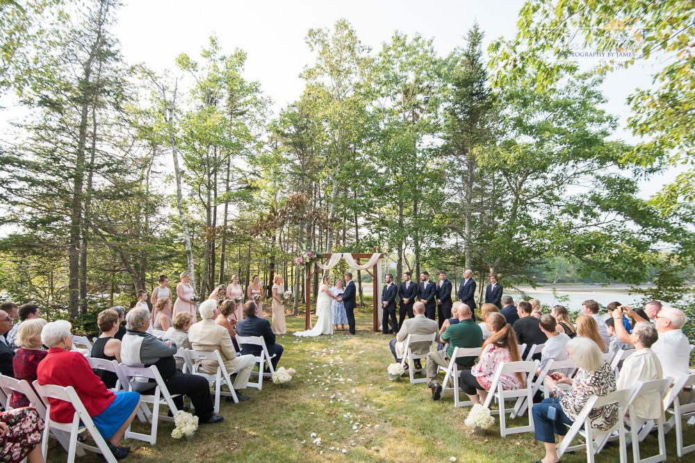 small backyard wedding ceremony
