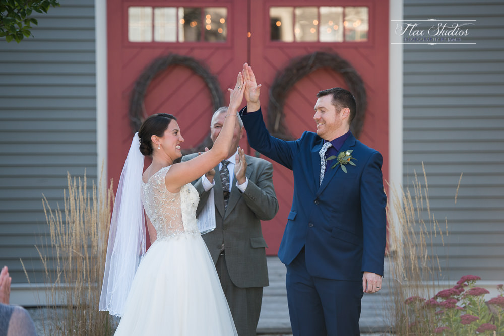high five after the ceremony