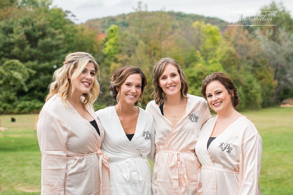 bridesmaids monogrammed robes