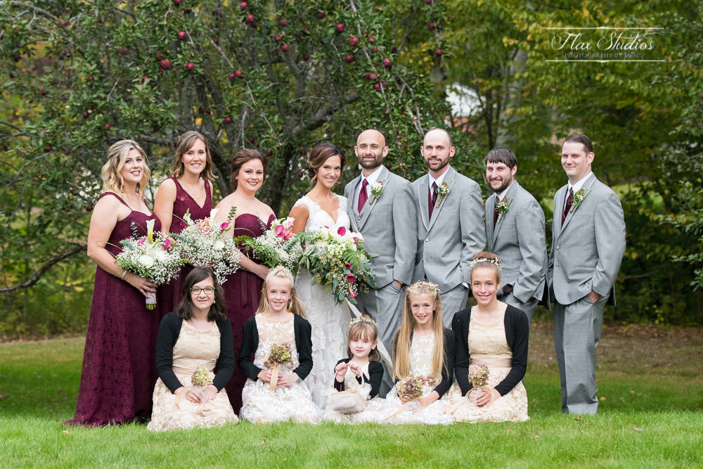 bridal party photos in peru maine