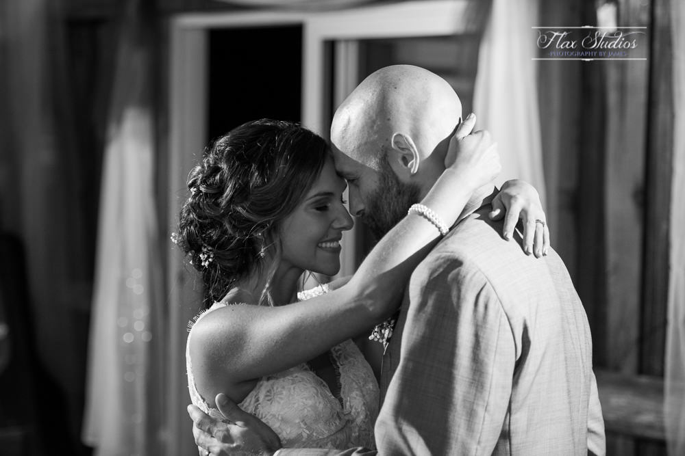 Black and white first dance photos
