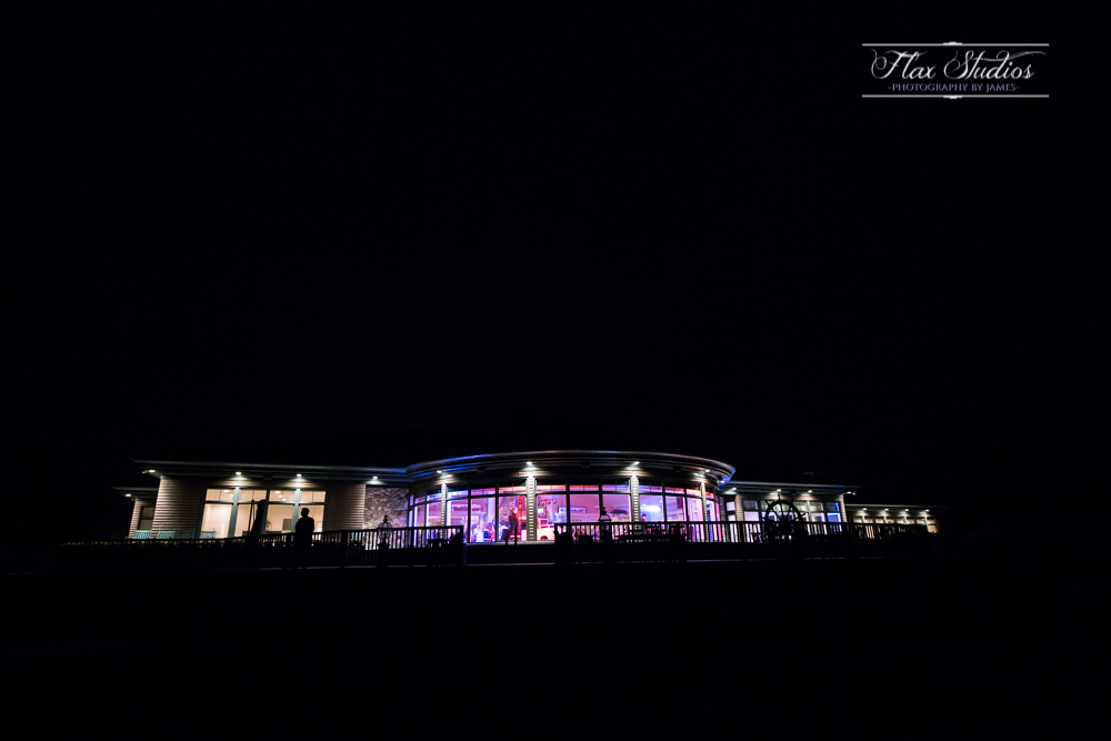 point lookout resort at night flax studios maine wedding photographers